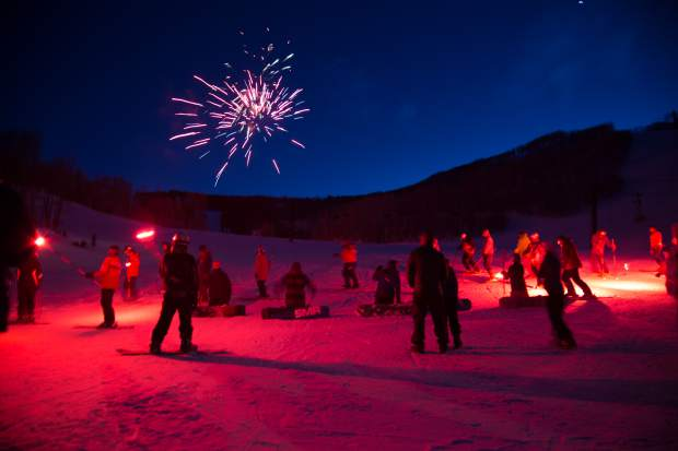 Sunlight Resort celebrates their 50th anniversary with a performance by two fire dancers while skiers and snowboarders trailed down the mountain with fire torches. The night concluded with a firework showenjoyed by families and friends at the bottom of the mountain.