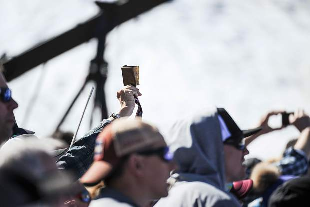 Cowbells rang throughout the fan areas during the men's and women's World Cup finals for giant slalom.