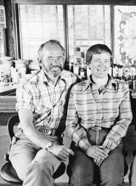 Bob and Ruth Kevan at their Peppermill restaurant in 1978, before they opened Chez Grand'mere and partnered with Plumley on the inaugural Classic.