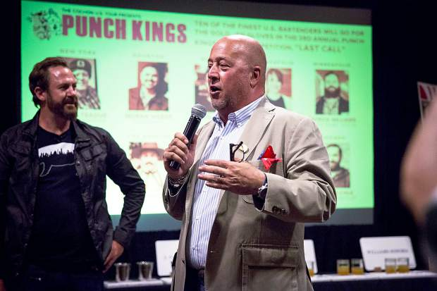Andrew Zimmern commended Grand Chochon in Snowmass Saturday night for its commitment to quality, both in food and farming.