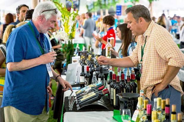 The wine selection in the Grand Tasting tents was plentiful throughout the weekend.