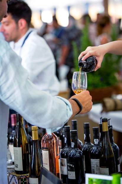 A wide variety of wines and other spirits were available at the Grand Tastings.