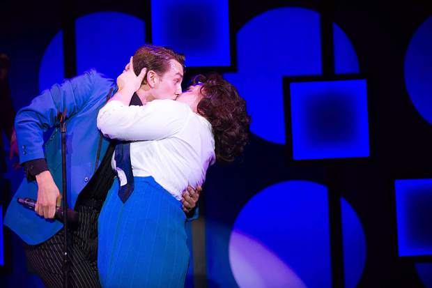 Taylor Hartsfield playing Tracy Turnblad and Christian Probst playing Link in Aspen Theatre's production of Hairspray at their dress rehearsal June 23.