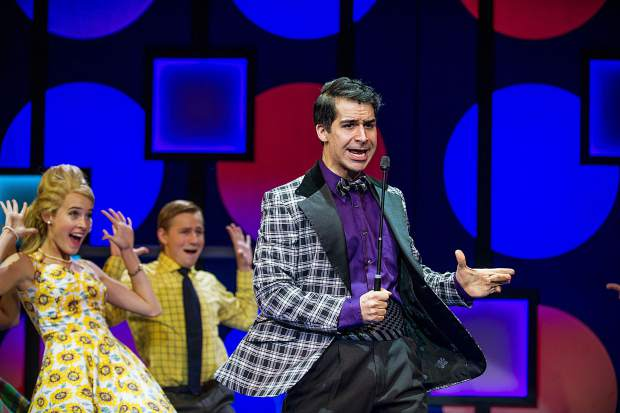 Denis Lambert playing Corny Collins in Aspen Theatre's production of Hairspray at their dress rehearsal June 23.