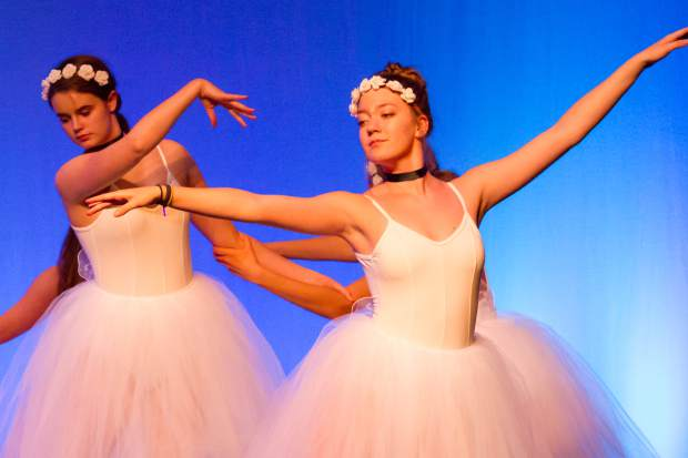 Dancers rehearse for the 25th anniversary of the Glenwood Center for the Arts' Dancers Dancing event held in May.