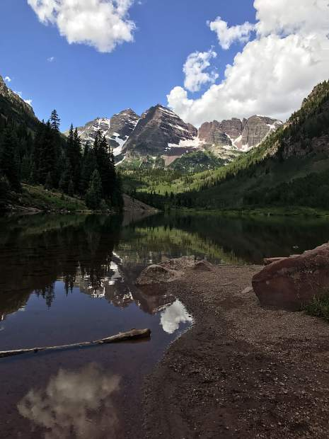 Reader Gabe Rodriguez got this shot of the Maroon Bells on a recent bike ride to the iconic spot. Rodriguez regularly rides his bike and shoots photos.