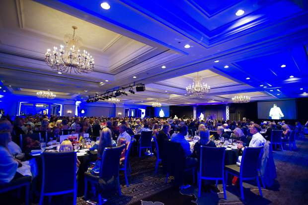 Guests filled the ballroom at the Vince Gill and Amy Grant 14th Anniversary Gala and Golf Classic at the St. Regis Monday evening.