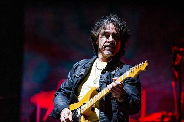 John Oates of Hall and Oates playing guitar at JAS Aspen Snowmass Friday night in Snowmass.