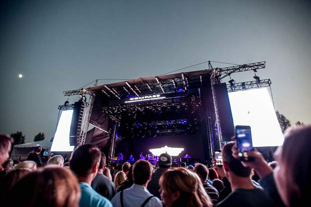 The crowd before Hall and Oates started playing at JAS Aspen Snowmass Labor Day Experience Friday night in Snowmass.