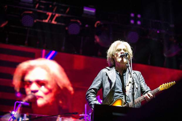 Daryl Hall of Hall and Oates playing guitar and singing at JAS Aspen Snowmass Friday night in Snowmass.