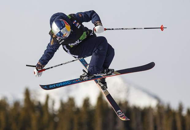 Tess Ledeux of France competes in the slopestyle finals during the Dew Tour event Saturday, Dec. 16, at Breckenridge Ski Resort. Ledeux took home second with a high score of 89.