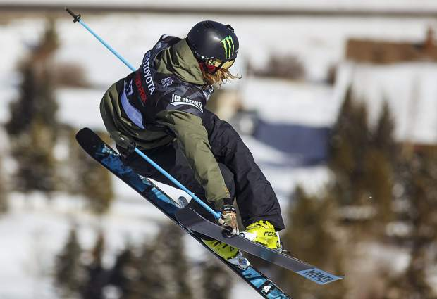David Wise of the United States competes in the halfpipe finals during the U.S. Grand Prix event Friday, Dec. 8, at Copper Mountain. Wise won the event with a score of 92.80