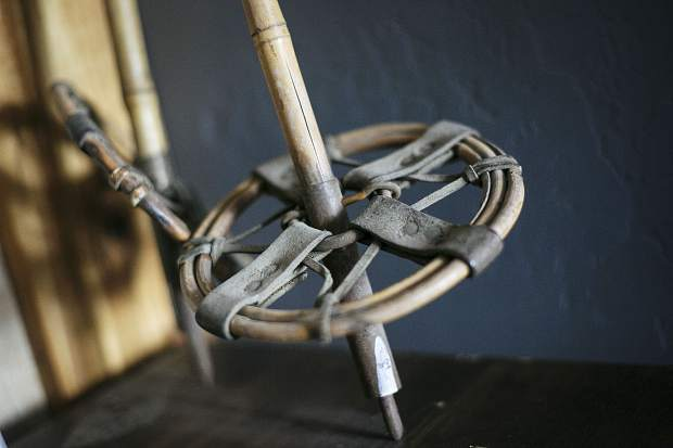 One of the original designs of the ski pole basket from the decade of 1900.