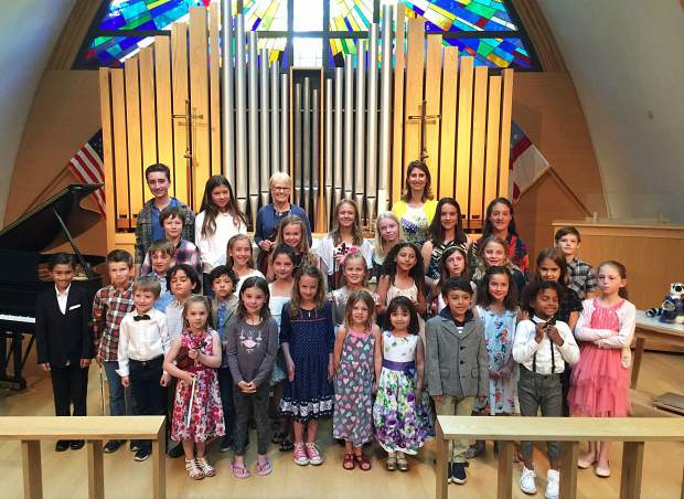 The Suzuki Violin and Piano Institute of Aspen held its 16th annual Celebration Spring Recital on March 20 at Christ Episcopal Church. Directed and accompanied by Heidi Curatolo, there were 31 performers, including the following: Rowan Stoller, Devin Patel-Seldin, Heidi Hancock, Sacha Beauregard, Emerson Hemstreet, Peyton Stoller, Nell Lieb, Avery Lieb, Frances Fink, Maya Mead, Scarlett Gleason, Maive Gleason, Hudson Sutter, Sheldon Gentry, Gray Everson, Anna Riley, Camryn Calcott, Amarie Sutter, Gavin Vold, Devon Phillips, Naya Smith, Arielle Washburn, Lily Jacobson, Willow Poschman, Bliss Hemstreet, Isabella Poschman, J.J. Kelly, Callum Loeb, Lilah Hemstreet, Mary Russell, and Haver Muss-Nichols.