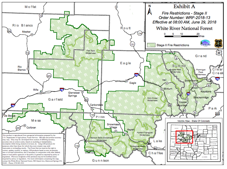 White River National Forest, Pitkin County increase fire bans to ...