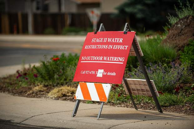 A stage II water restriction became in effect on Friday.