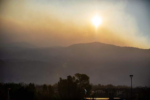 The Lake Christine fire in El Jebel, Colorado on July 6, 2018 morning.