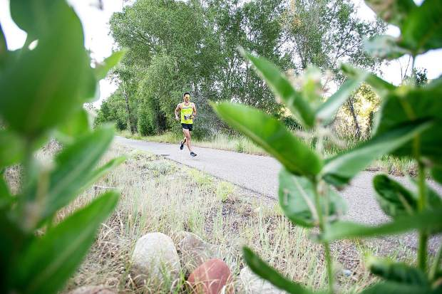 Brian Lozes of Louisiana competes in the Aspen Valley Marathon on the Rio Grande Trail on Saturday morning. Lozes took fifth place in the full marathon.