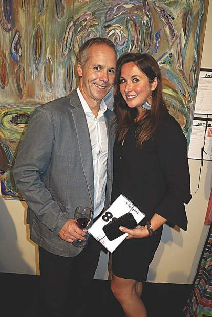 Todd Clark, Director of Operations for Nobu Matsuhisa Aspen/Vail/Denver with wife, Kate Redwing. May Selby photo.