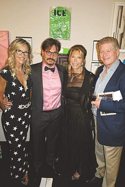Olivia Daane with Marc Dennis, and Jane and John Preiser. May Selby photo.