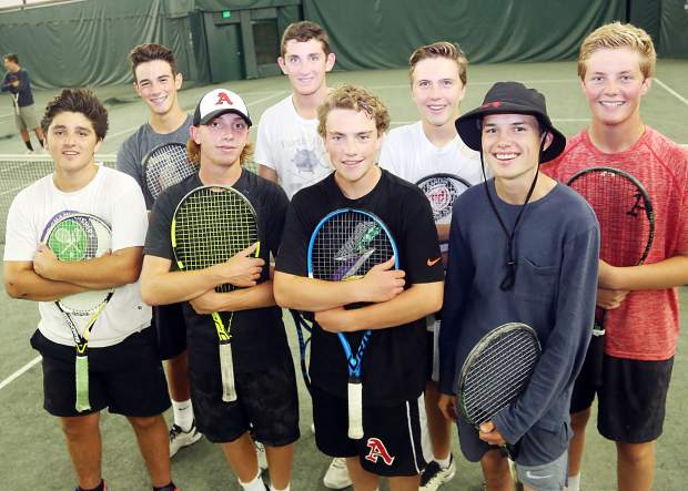 All four of Aspen High School's doubles teams will compete in the Class 4A state tournament this week in Pueblo. (Photo by Austin Colbert/The Aspen Times).