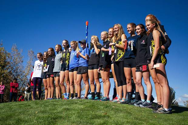 The top 15 girls that will be heading to State at the regional cross-country meet at the Aspen Golf Course on Friday morning.