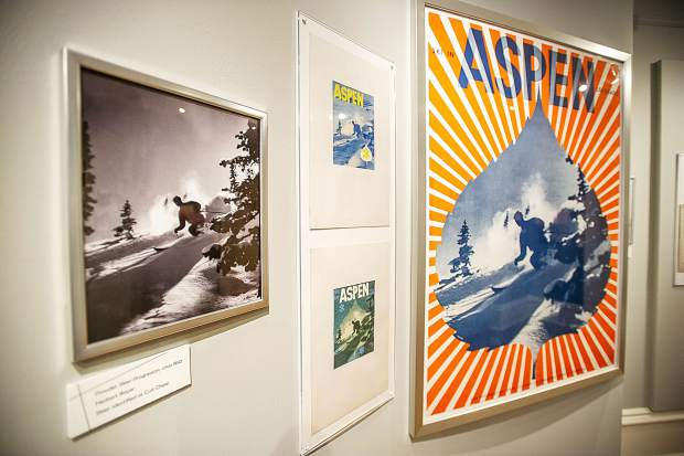 Some of Herbert Bayer's powder skier progressions at the Bayer and Bauhaus exhibit,