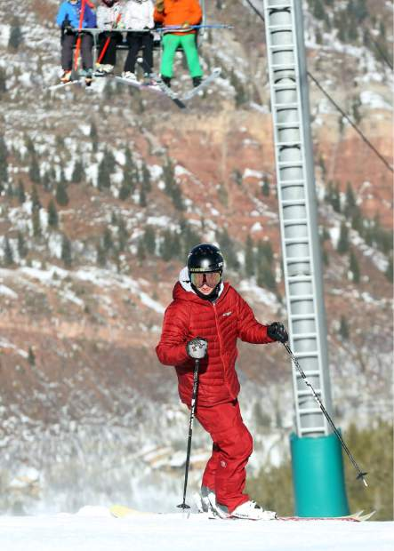 Olympic silver medalist halfpipe skier and Aspen native Alex Ferreira freeskis at Aspen Highlands on Friday, Jan. 4, 2019. (Photo by Austin Colbert/The Aspen Times)