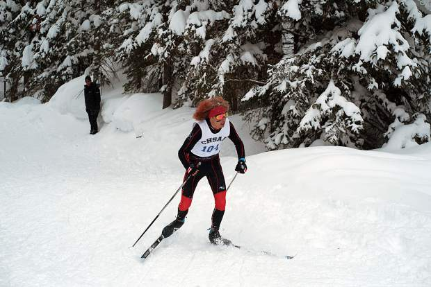 Aspen's Colt Whitley skied to third place Thursday in the CHSAA state championship Nordic classic race on the 5-kilometer course at the Durango Nordic Center.