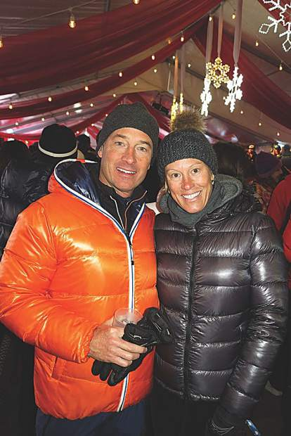 Bill and Jessica Budinger bundled up in Aspen in December (but currently barefoot in the Bahamas).