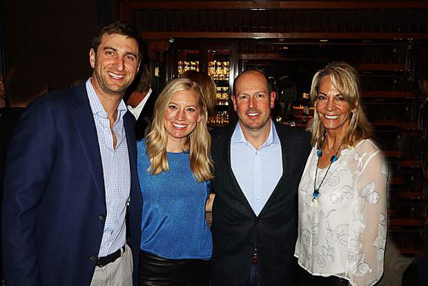 Mark and Kathryn Janian with Sentient Jet's Rob West and Kirsten LaMotte, longtime supporters of Ascendigo.
