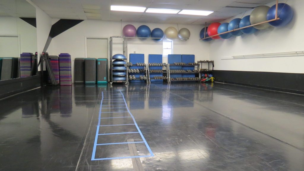 The group fitness room.