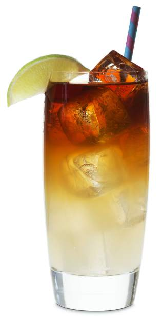 """Legend has it that the Dark 'n Stormy was named when an sea going sailor claimed that the color of the drink reminded him of a """"cloud that only a fool or a dead man would sail under."""" The Rum floats atop the ginger beer forming the deadly """"cloud."""""""