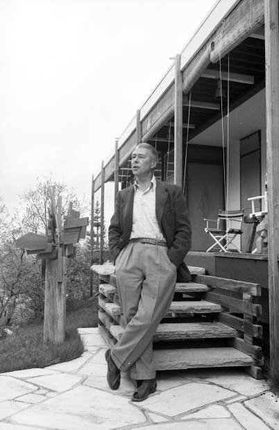 Herbert Bayer photographed at his home on Red Mountain in 1965.