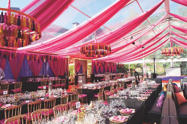 WineCrush's 2017 Moroccan-themed tent.