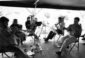 Snowmass History: Horns section plays at Anderson Ranch