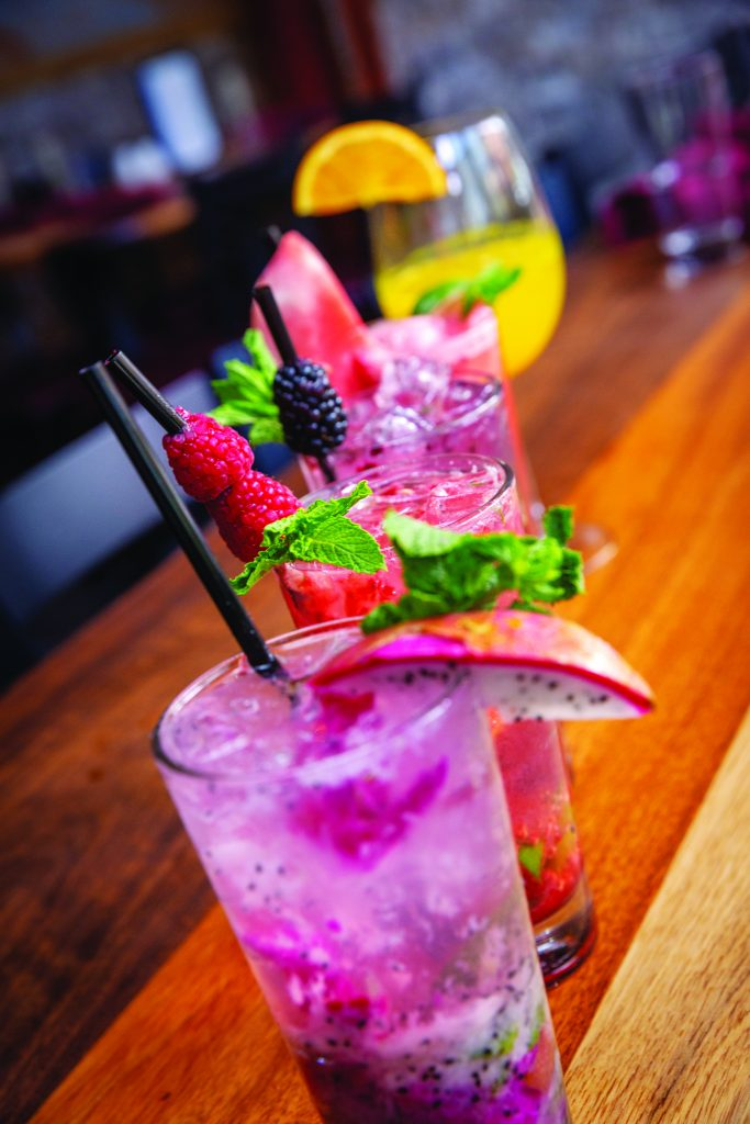 Mojitos at Wienerstube come in flavors like dragonfruit, blackberry and raspberry