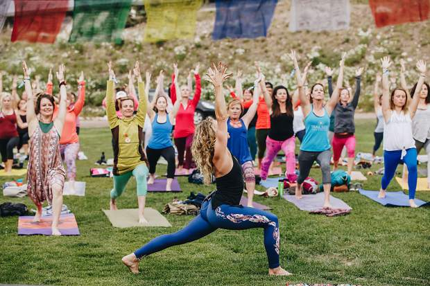 This year's Yoga on the Mountain takes place Friday through Sunday in Snowmass.