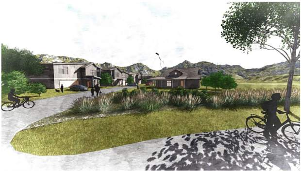 A rendering posted on the Town of Snowmass Village website of what the new Coffey Place employee housing project along Stallion Circle could look like.
