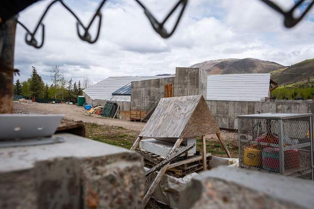 The redevelopment site for the bankrupt Aspen Club showed no signs of activity on a recent June day.