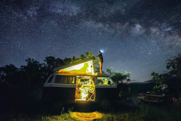 Basalt resident and photographer Pete McBride took this shot while he was stargazing with his nieces.