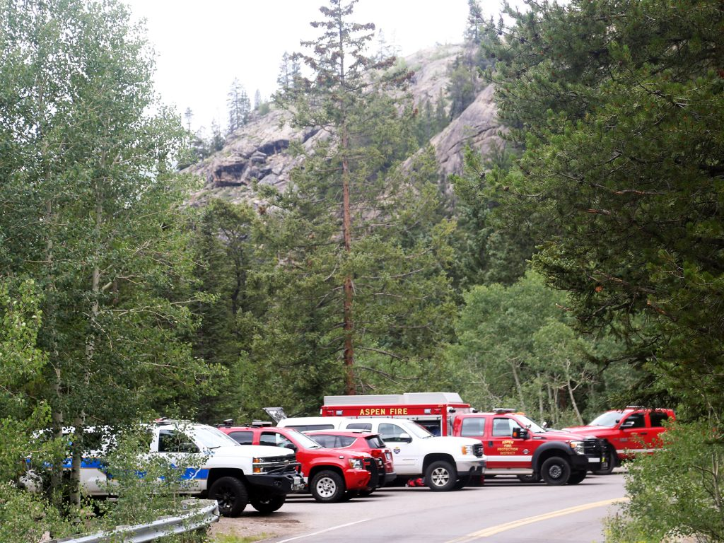 Officials searched for the body of a teenager in the Roaring Fork River on Independence Pass on Thursday, Aug. 1, 2019, near the Devils Punchbowl. The body of a 16-year-old girl from Kansas was found Thursday morning when the search resumed.