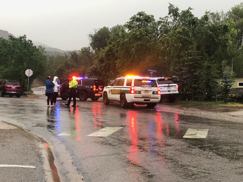 The Frying Pan Road has been closed at Basalt after flash flooding Sunday on the Lake Christine Fire burn scar.