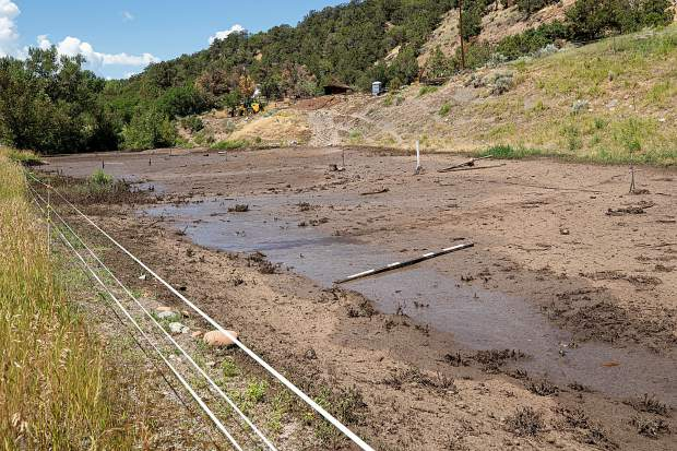 A water diversion project sent water and mud into a horse pasture and away from structures along Two Rivers Road in Basalt after the Sunday rainstorm causing flash flooding.