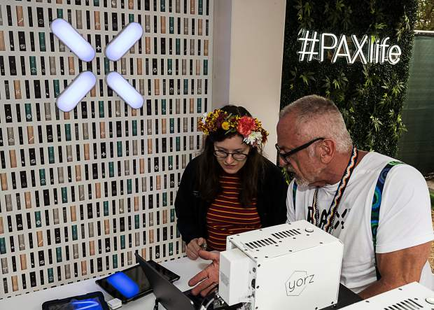 PAX provided custom engraving for its vaporizer devices on-site.