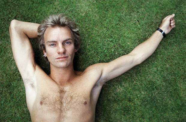 Sting, photographed at home in London, by Lynn Goldsmith in 1982.