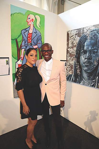 Rebecca and Troy Carter at ArtCrush.