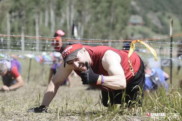 A photo of Crochet competing in the Aug. 3 Snowmass Spartan race series taken from the Facebook page of his brother, Steve.