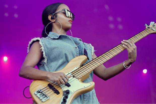 H.E.R. plays during the Jazz Aspen Snowmass Labor Day Experience on Sunday, Sept. 1, 2019, in Snowmass Village. (Photo by Austin Colbert/The Aspen Times)