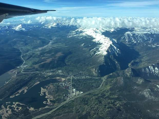 A flight from NASA's Airborne Snow Observatory gathers data about the snowpack above the reservoir on a June 24 flight. Information gathered from the flight helped Denver Water manage reservoir operations.